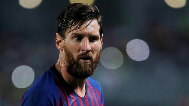 Lionel Messi gagal mengantar Barcelona juara di Liga Champions musim lalu.