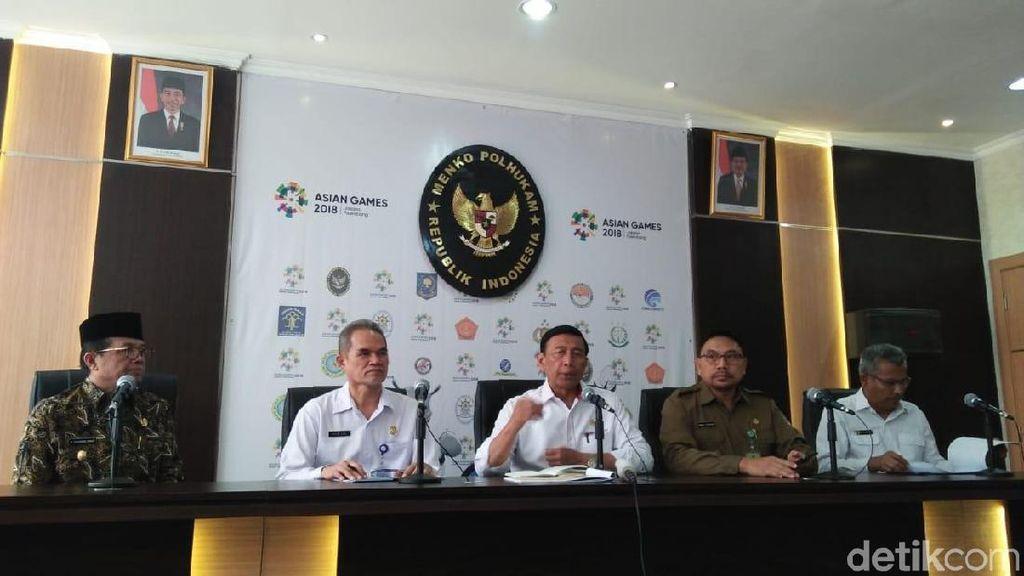 Wiranto: Sumsel Harus Bebas Asap saat Asian Games