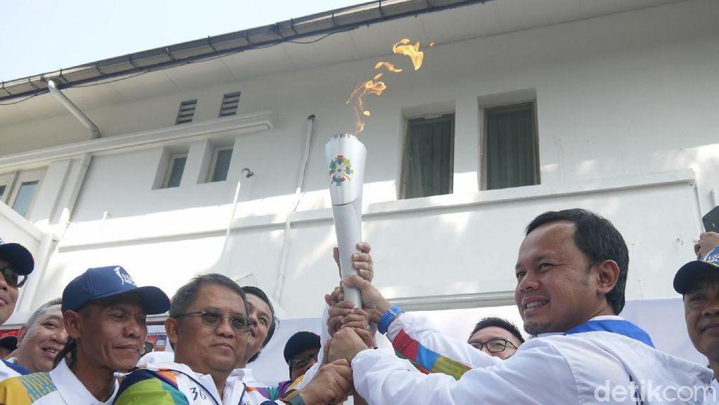Tiba di Bogor, Obor Asian Games 2018 Keliling Istana Presiden
