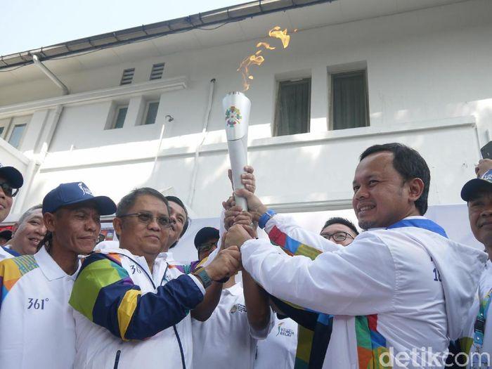 Obor Asian Games tiba di Kota Bogor (Farhan/detikSport)