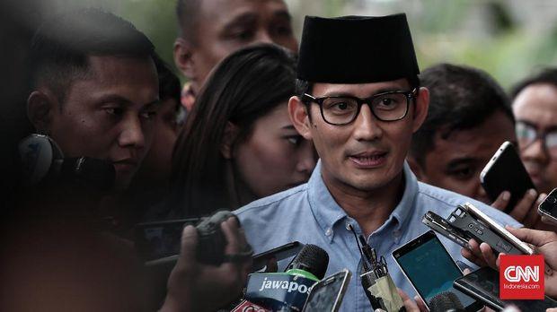 Sandiaga Uno, di Jakarta, Selasa, 14 Agustus.