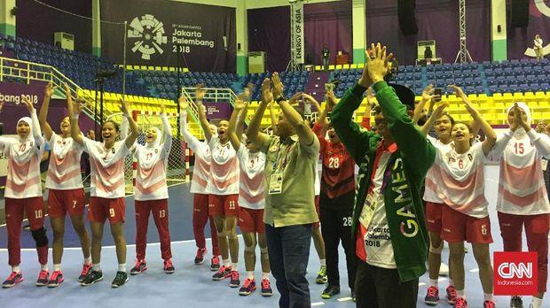 Tim bola tangan putri Indonesia kembali tampil hari ini di fase grup Asian Games 2018. (
