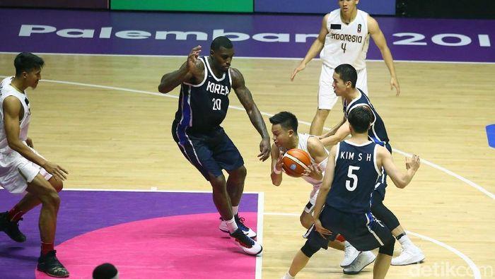 Timnas Basket Indonesia saat Asian Games 2018 (Grandyos Zafna/detikSport)