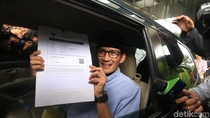 Sandiaga Uno Serahkan LHKPN ke KPK