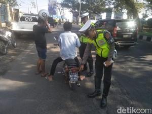 Kocak, Polisi Garut Tilang Pelat Nomor Aku Sayang Kamu