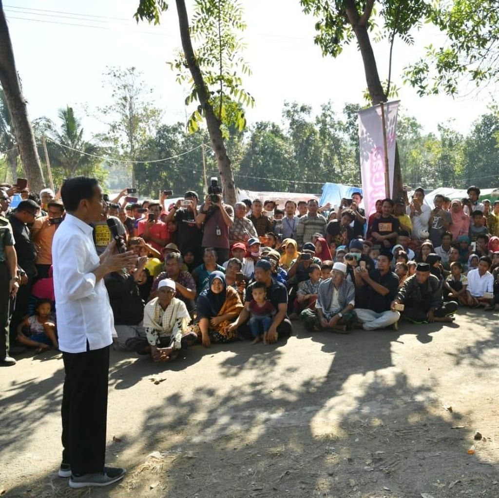 Jokowi Siapkan Inpres Terkait Penanganan Gempa Lombok