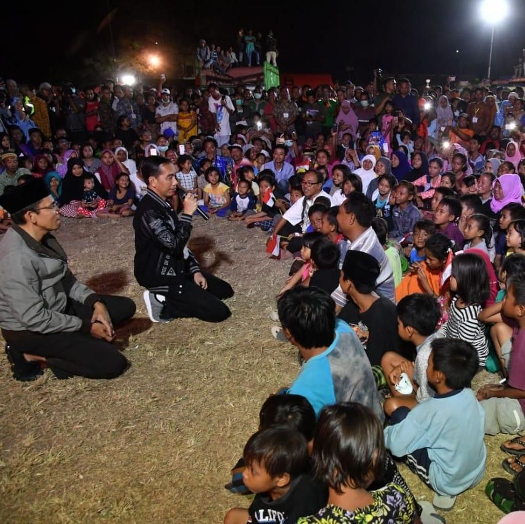 Saat Jokowi Kunjungi Korban Gempa Lombok