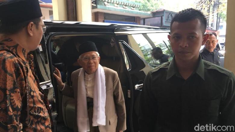 Ma'ruf Amin Tiba di Kantor PBNU untuk Pamitan Pergi Haji