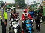 Viral Foto Kamen Rider Ditilang, Ini Cerita di Baliknya