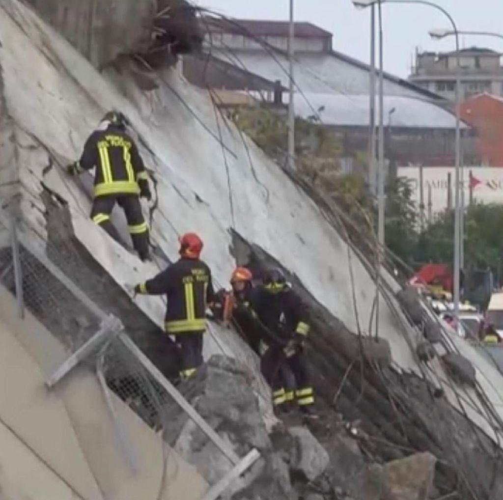 Jembatan Layang di Italia Ambruk, 11 Orang Tewas