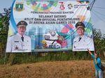 Duh! Spanduk Asian Games Pemprov Banten Salah Lagi