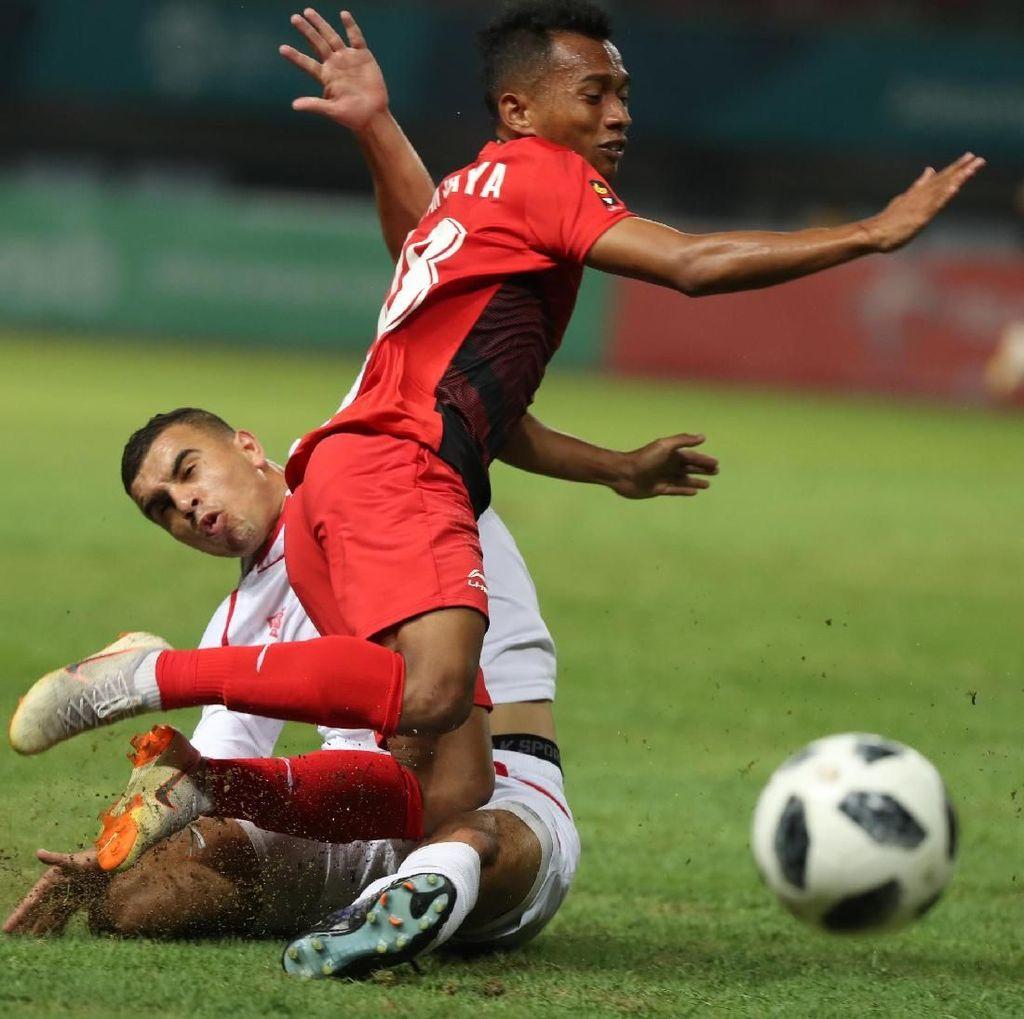 Hasil Sepakbola Asian Games 2018: Indonesia Dikalahkan Palestina 1-2