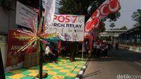 Peserta Mulai Penuhi Jalan Jelang Kirab Obor Asian Games di Jaksel