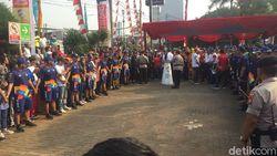 Ada Pawai Obor Asian Games, Lalin Sekitar Lokasi Padat