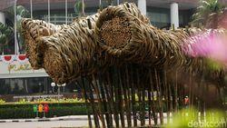Kurator Seni Nilai Instalasi Bambu Proyek Anies Kurang Umum di Bundaran HI