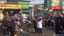 Obor Asian Games Tiba di Kramat Jati, Torch Relay Dimulai