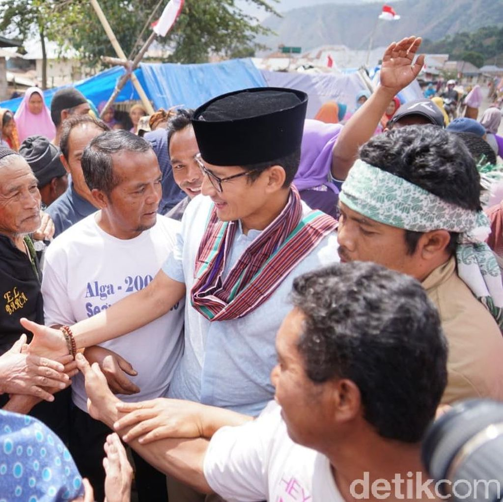 Sandiaga: Korban Gempa di Lombok Butuh Bantuan Tambahan
