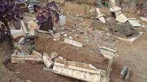 Makam di TPU Malang Dirusak Orang Tak Dikenal