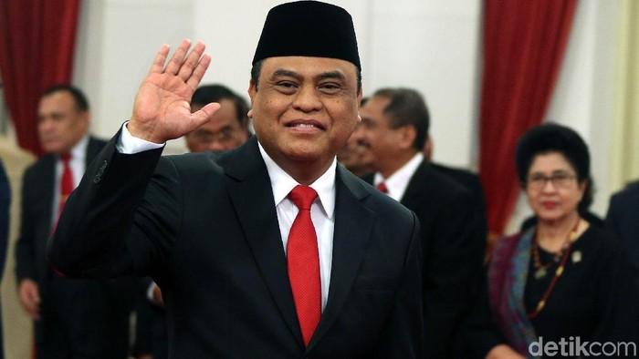 Sosok gagah menteri Syafruddin (Foto: Rengga Sancaya)