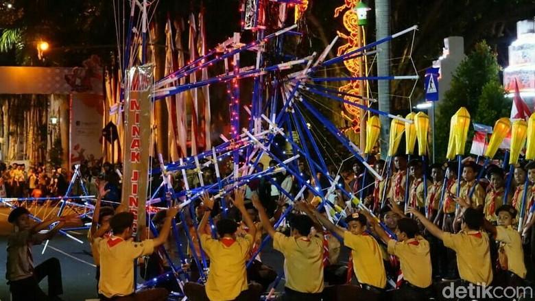 Begini Aksi 1.000 Anggota Pramuka di Banyuwangi Meriahkan Asian Games