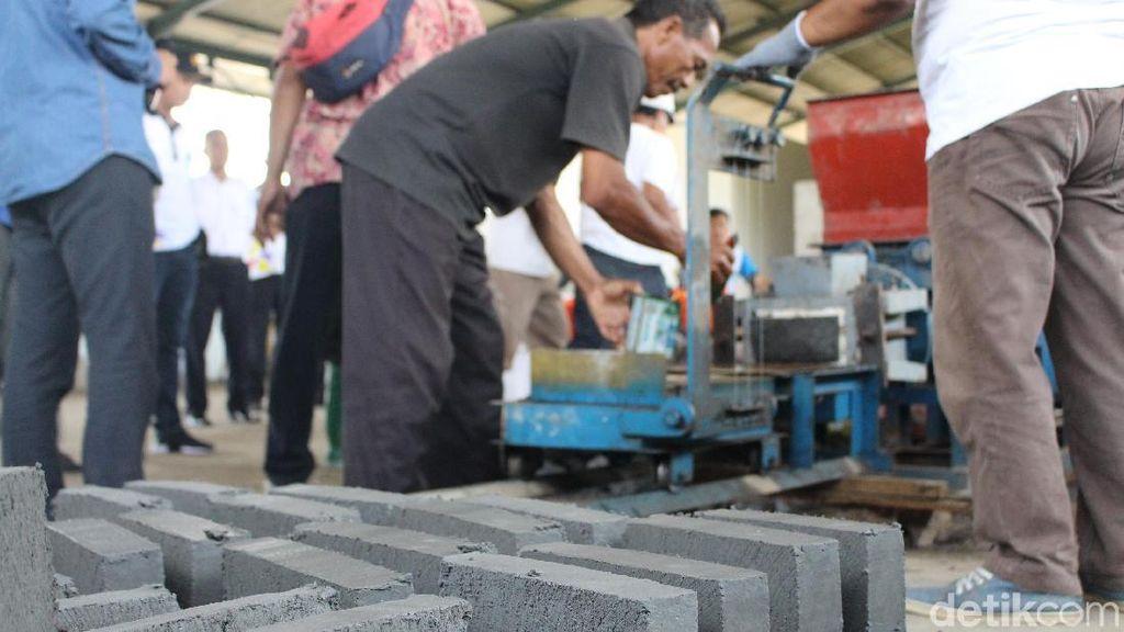 Batu Bata Made In Lumpur Lapindo Dibuat Lagi, Diklaim Lebih Kuat