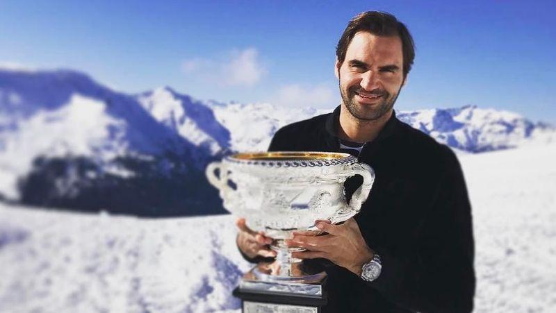 Roger Federer merupakan petenis asal Swiss. Dia termasuk ke dalam daftar atlet terkaya di dunia. (rogerfederer/Instagram)