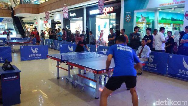 Sambut Asian Games, Ada Turnamen Tenis Meja yang Digelar di Mal