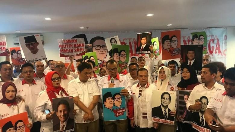 Deklarasi Dukungan, ACTA Siap Jadi Pengacara Prabowo-Sandi