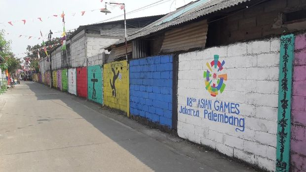 Mural Asian Games juga mempercantik tembok gang