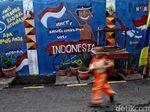 Giliran Mural HUT RI Hiasi Jakarta