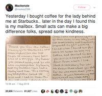 Belikan Kopi Untuk Orang Asing, Wanita Ini Dipuji Netizen