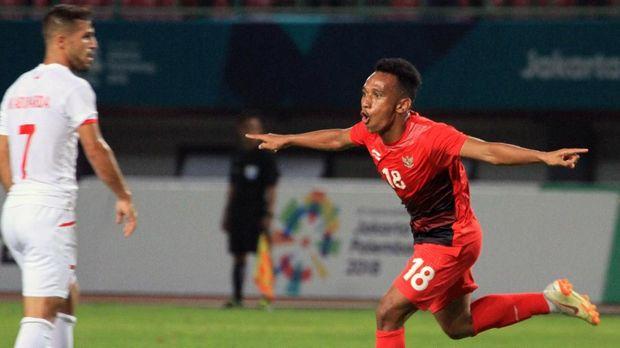 Timnas Indonesia U-23 hanya mampu mencetak satu gol lewat Irfan Jaya ke gawang Palestina.