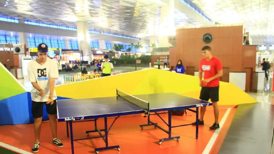 Ada banyak permainan seru tanggal 14-17 Agustus 2018 di Bandara Soekarno-Hatta. Perlombaan ini dalam rangka Asian Games dan kemerdekaan RI (dok Angkasa Pura II)
