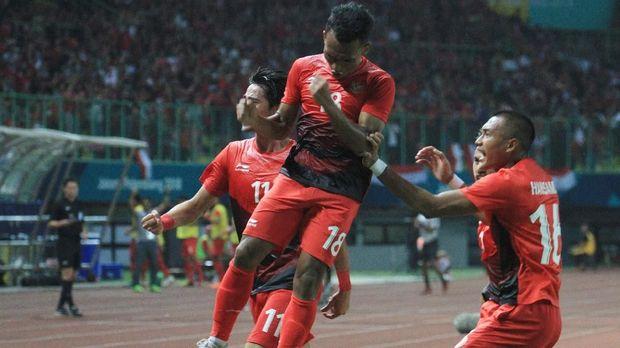 Timnas Indonesia U-23 hanya mampu mencetak satu gol melawan Palestina lewat Irfan Jaya.