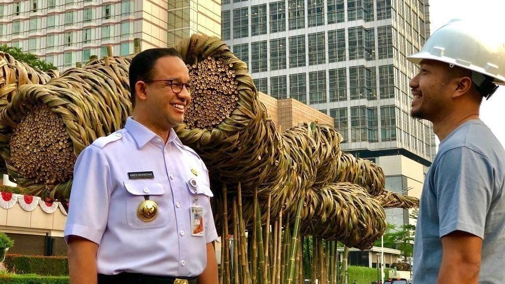 Joko Avianto, Seniman Instalasi Bambu Asian Games Proyek Anies