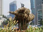 Bambu di Bundaran HI Dibongkar Usai 11 Bulan, NasDem: Pemborosan!