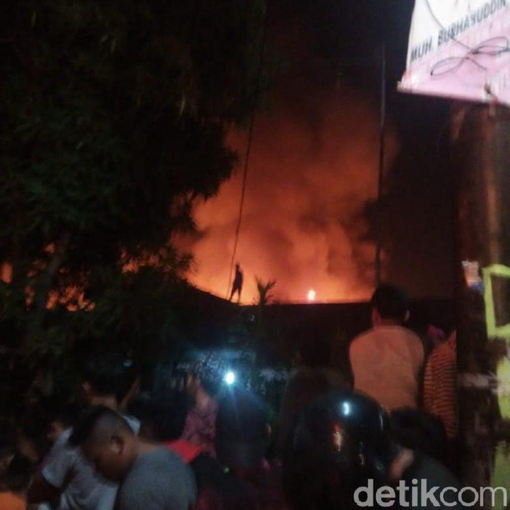 20 Rumah di Makassar Ludes Dilalap Jago Merah