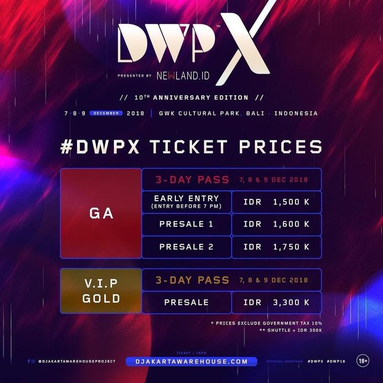 Digelar di Bali, Tiket Konser DWP Dijual hingga Rp 3,3 Juta