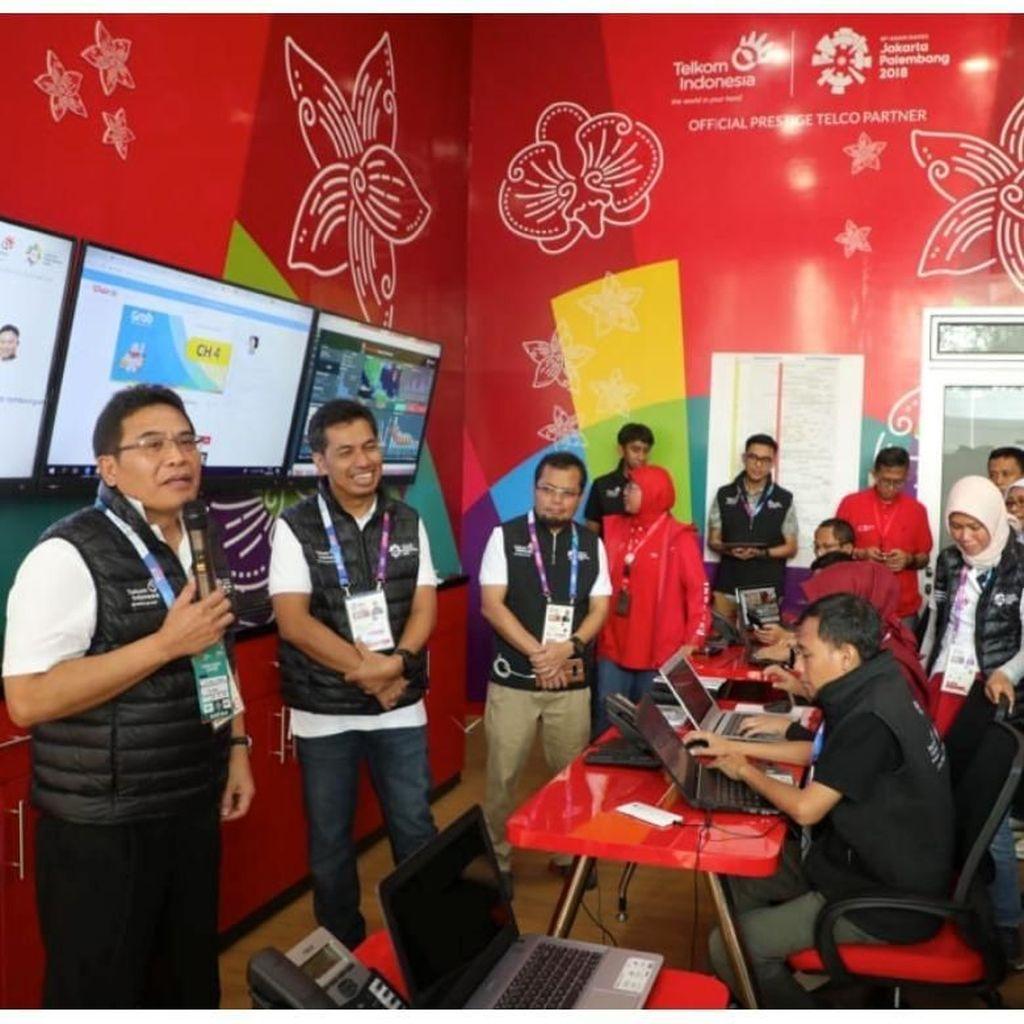 Dirut Telkom Pantau Kesiapan Layanan TelkomGroup untuk Asian Games