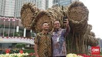 Anies soal Bambu Getah Getih: Kalau Besi Impor dari Tiongkok