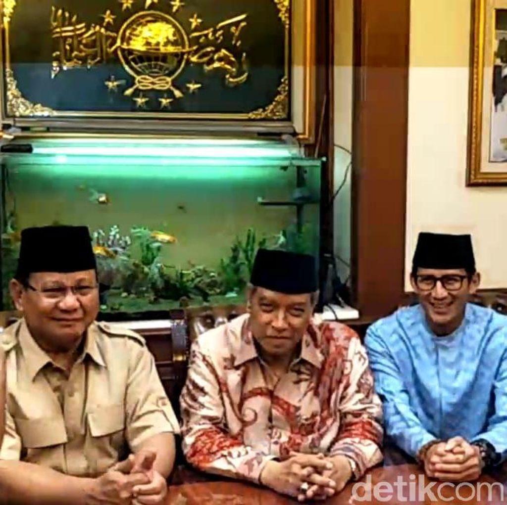 Bertemu PBNU, Prabowo-Sandiaga Bahas Masalah Kemiskinan