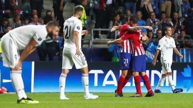 Real Madrid kalah 2-4 dari Atletico di Piala Super Eropa 2018.