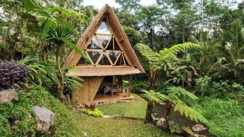 Akomodasi ramah lingkungan di Bali (Hideout Bali Eco Bamboo Home)
