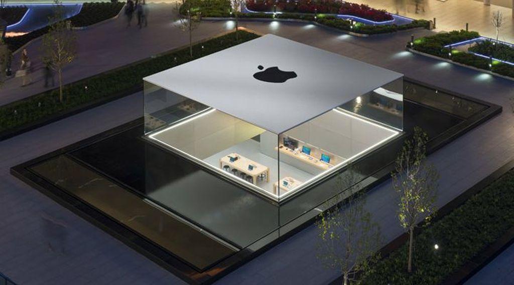 Saat ini ada dua Apple Store di Turki, salah satunya berlokasi di Zorlu Center di Istanbul. Desainnya yang menarik membuat Apple Store yang satu ini dianggap sebagai salah satu yang paling keren di dunia. Foto: Apple Store Istanbul