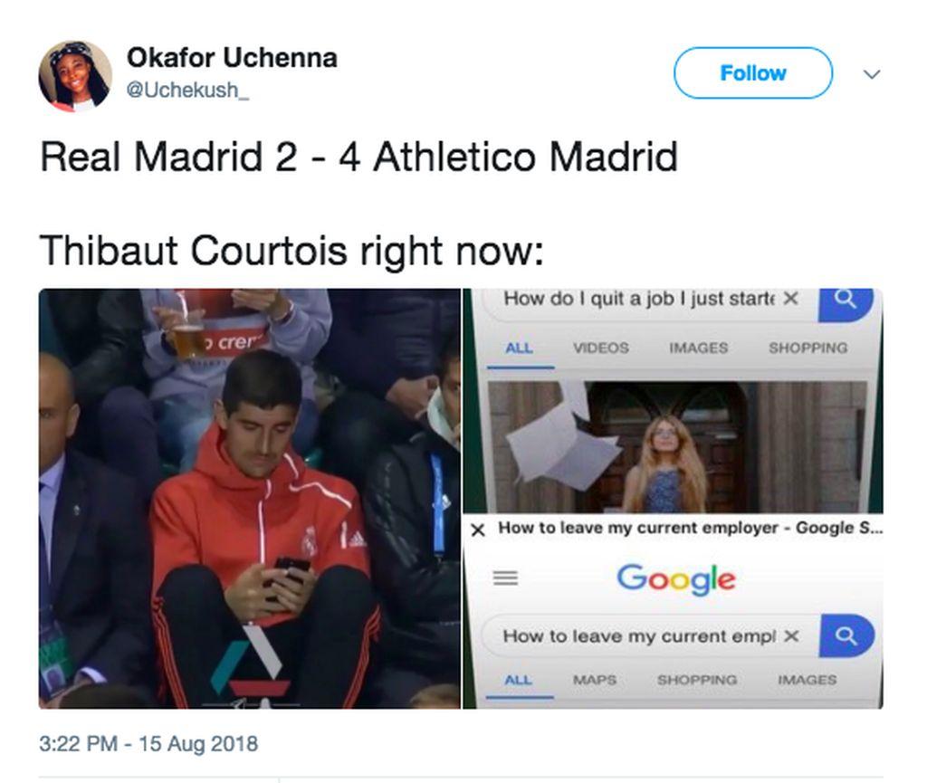 Thibaut Courtois yang baru direkrut Real Madrid langsung ingin pergi lagi. Foto: istimewa