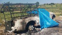 Begini Kronologi Mobil Polisi Hutan Dibakar di Blora