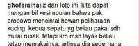Komentar di postingan Prabowo.