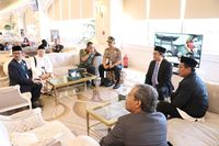 Momen KH Ma'ruf Amin tiba di Jeddah