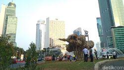 Seni Bambu Proyek Anies Dipercantik oleh Dinas Kehutanan DKI Jakarta