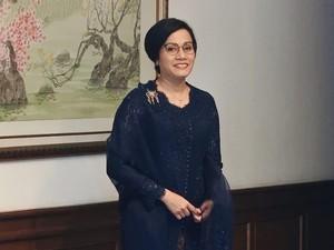 Cantik dan Anggun Sri Mulyani Berkebaya Biru di Sidang Tahunan MPR 2018